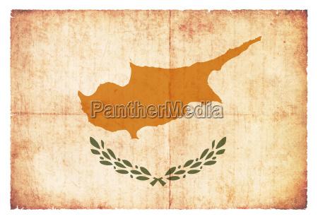 grunge flag cyprus