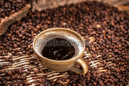 coffee in brown cup