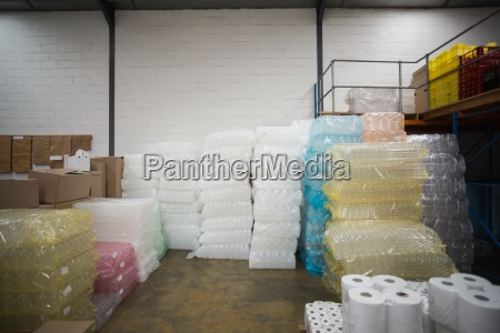 close up of plastic packaging and