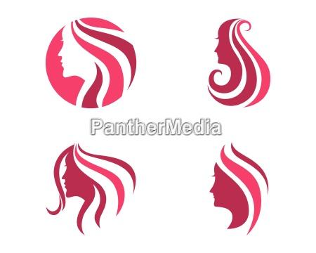 beauty women icon logo template