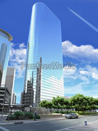 3d rendering of a generic modern