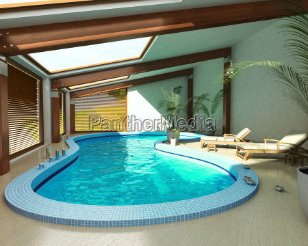 indoor spa pool with chairs and