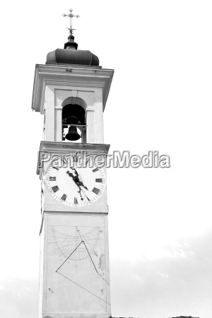 ancien clock tower in italy europe