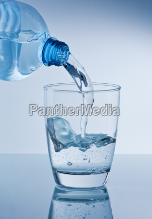 empty mineral water glass