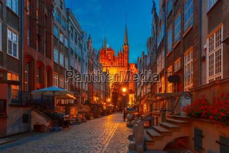 mariacka street in gdansk old town