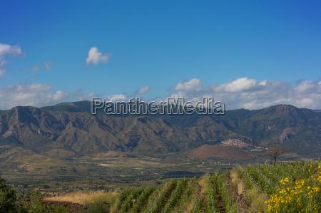 mountain landscape sicily