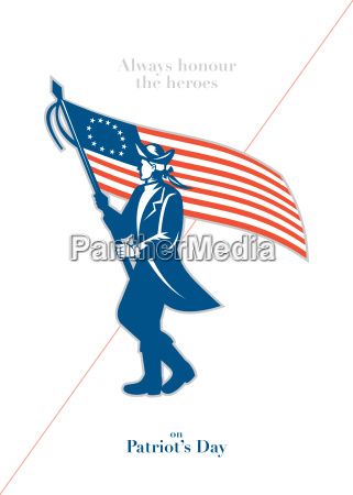 patriots day greeting card american patriot