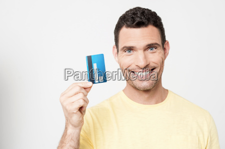 here is my credit card