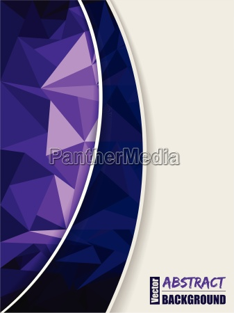 abstract purple brochure with purple transparent