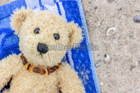 a, teddy, bear, lies, on, a - 15566993