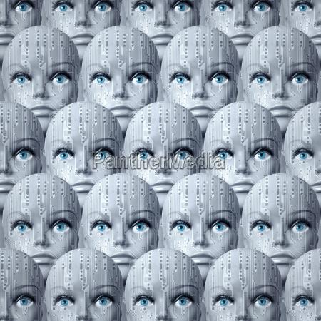 cyborg heads background