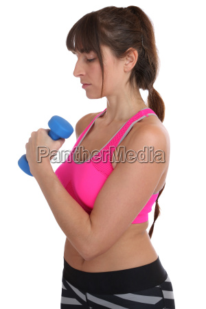 fitness concentration workout woman while exercising