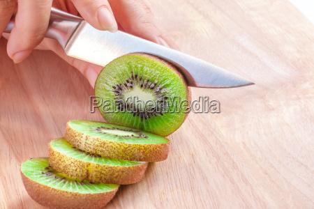 woman food preparation cutting a
