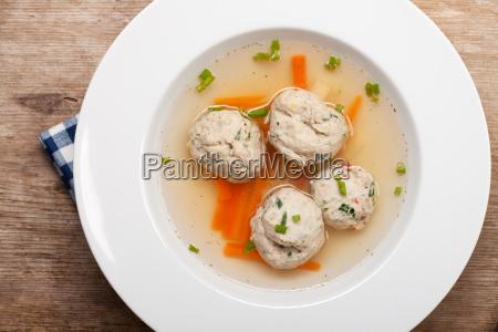 plate bavarian dumpling lump dumplings soup