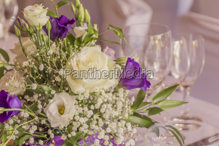 premium catering arrangement with flowers and
