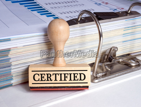 certified rubber stamp with binder