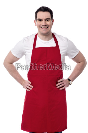 male chef posing to camera