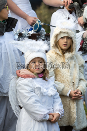 the winter festival angel in the