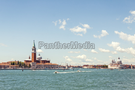 venice lagoon and architecture view