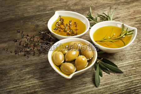 olive oil with herbs