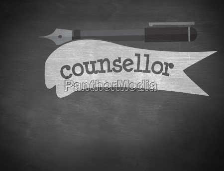 counsellor against black background