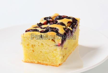 blueberry cake slice