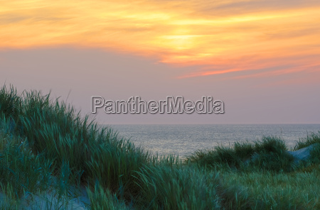 evening atmosphere by the sea on
