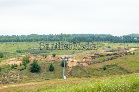 construction of the ski slope for