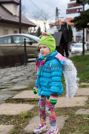 the winter festival angel in
