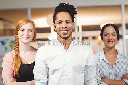 portrait of confident smiling businessman with