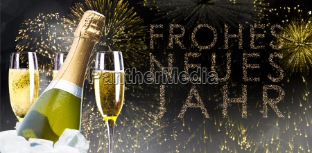 composite image of champagne cooling in