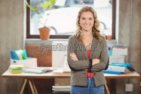 portrait of confident smiling woman with