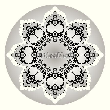 antique ottoman turkish vector design eleven