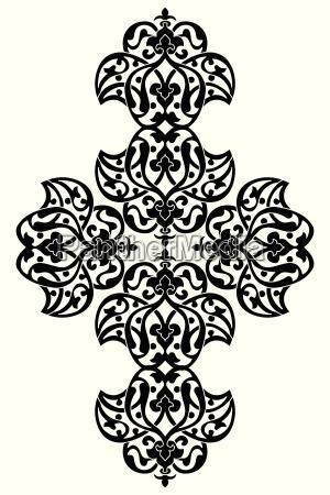 antique ottoman turkish vector design one