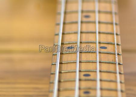 electric bass fretboard