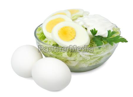 glas skal med en salat af