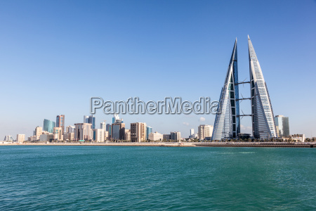 ciudad horizonte golfo arabia medio oriente