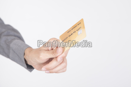 offering credit card white background