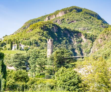 treunstein castle ruin in bolzano