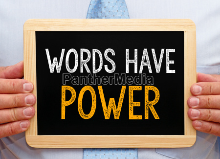 words have power manager with