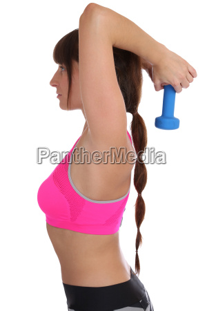 workout training woman in sports triceps