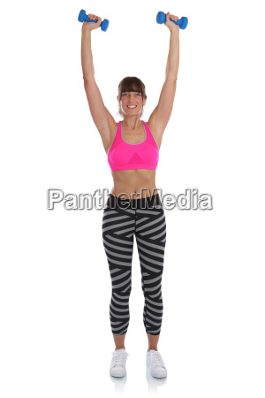 fitness workout woman playing sports with