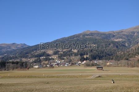 berg im drautal carinthia mountains fields