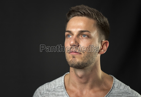 young man with three days beard