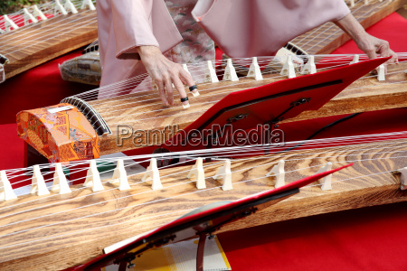 japanese woman playing the traditional music