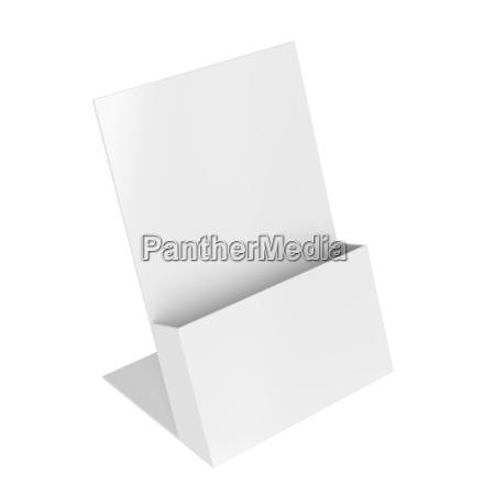 empty brochure holder