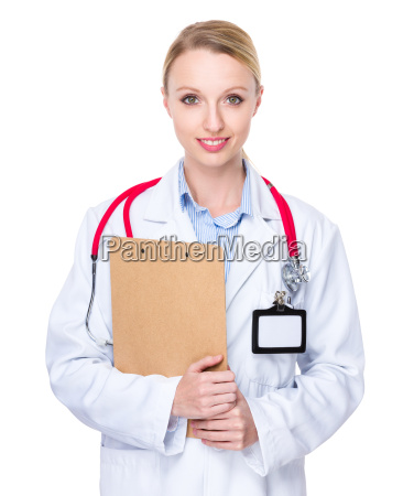 doctor woman hold with clipboard