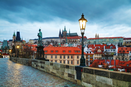 overview of prague with st vitus