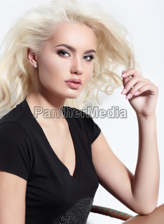 young european attractive model with long