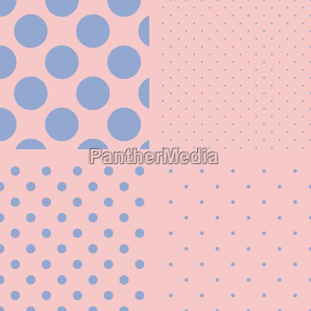 polka dot set seamless pattern vector